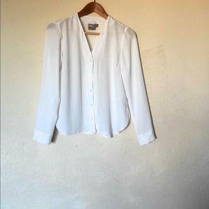 asos blouse Long sleeves white Size 4 US White